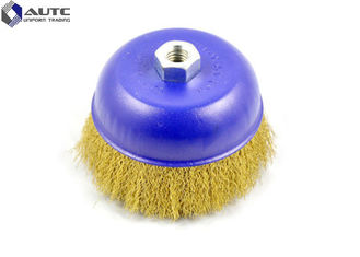 Copper Nylon Sanding Brush Polishing Rust Cup Stainless Steel Wire Durable